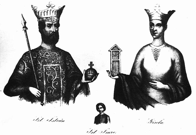 Gizella, István és Imre herceg reformkori ábrázolása